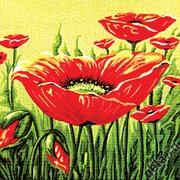 """Канва/ткань с нанесенным рисунком Gobelin-L """"Маковые заросли"""""""
