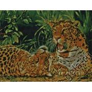 """Набор для вышивания крестом Kustom Krafts Inc. """"Играющие леопарды"""""""