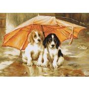 "Гобелен Luca-S ""Двое под зонтом"""