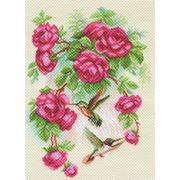 """Набор для вышивания крестом Матрёнин посад """"Розы и колибри"""""""