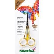 Аксессуары Madeira Ножницы для вышивания специальные (2 изгиба, позолота 22 карата)