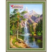 """Набор для выкладывания мозаики Алмазная живопись """"Горный водопад"""""""