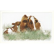 """Набор для вышивания крестом Thea Gouverneur """"Рыжая корова"""""""