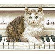 """Набор для выкладывания мозаики Паутинка """"Котёнок на пианино"""""""