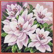 """Набор для вышивания крестом Матрёнин посад """"Розовые цветы"""""""