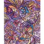 """Набор для вышивания крестом Матрёнин посад """"Витраж с бабочками"""""""