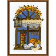 """Набор для вышивания крестом Риолис """"Осеннее окошко"""""""
