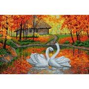 """Набор для выкладывания мозаики Вышиваем бисером """"Лебеди на пруду"""""""