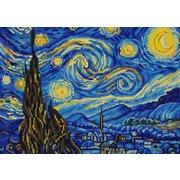 """Канва/ткань с нанесенным рисунком Конёк """"Звездная ночь (В. Ван Гог)"""""""