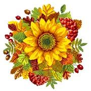 """Канва/ткань с нанесенным рисунком Матрёнин посад """"Осенний подсолнух"""""""