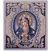 """Набор для вышивания хрустальными бусинами Образа в каменьях """"Богородица Умиление (жемчуг)"""""""