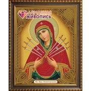 """Набор для выкладывания мозаики Алмазная живопись """"Икона Богородица Семистрельная"""""""