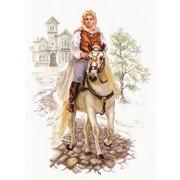 """Набор для вышивания крестом Алиса """"Юноша на белом коне"""""""