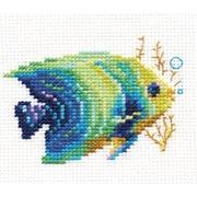 """Набор для вышивания крестом Алиса """"Тропические рыбки. Изумрудная"""""""