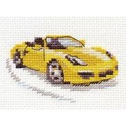 """Набор для вышивания крестом Алиса """"Желтый спорткар"""""""