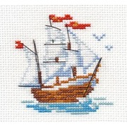 """Набор для вышивания крестом Алиса """"Кораблик"""""""