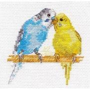 """Набор для вышивания крестом Алиса """"Попугайчики"""""""
