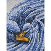 """Канва/ткань с нанесенным рисунком Конёк """"Лебеди"""""""