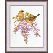 """Набор для вышивания крестом Овен """"Птички-невелички. Белоглазка"""""""