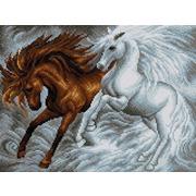 """Набор для выкладывания мозаики Вышиваем бисером """"Лошади"""""""