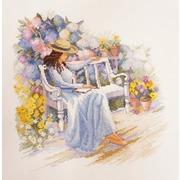 """Набор для вышивания крестом Марья искусница """"Цветущий сад"""""""