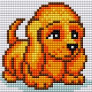 """Набор для выкладывания мозаики Вышиваем бисером """"Собака"""""""