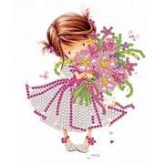 """Канва/ткань с нанесенным рисунком Конёк """"Розовый букет"""""""