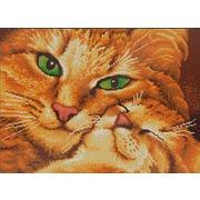 """Канва/ткань с нанесенным рисунком Конёк """"Кошка с котенком"""""""