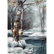 """Набор для вышивания крестом Luca-S """"Зима"""""""