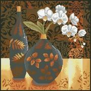 """Набор для выкладывания мозаики Паутинка """"Натюрморт с орхидеей"""""""