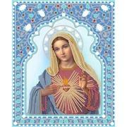 """Канва/ткань с нанесенным рисунком Конёк """"Непорочное сердце Марии"""""""