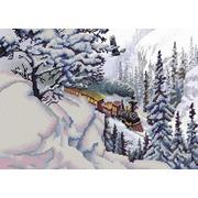 """Канва/ткань с нанесенным рисунком Конёк """"Поезд"""""""