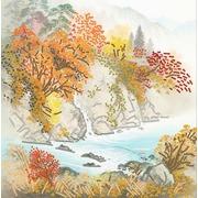 """Канва/ткань с нанесенным рисунком Конёк """"Осень в горах"""""""