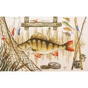 """Набор для вышивания крестом Марья искусница """"Удачной рыбалки"""""""