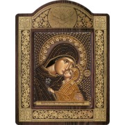 """Набор для вышивания бисером Nova sloboda """"Св. Анна с младенцем Марией"""""""