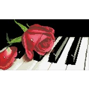 """Набор для выкладывания мозаики Паутинка """"Роза на рояле"""""""