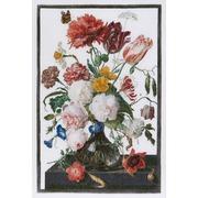 """Набор для вышивания крестом Thea Gouverneur """"Цветы в стеклянной вазе"""""""