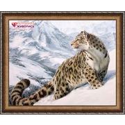 """Набор для выкладывания мозаики Алмазная живопись """"Снежный барс"""""""