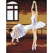 """Канва/ткань с нанесенным рисунком Gobelin-L """"Уроки балета"""""""