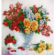 """Канва/ткань с нанесенным рисунком Конёк """"Розовый флер"""""""