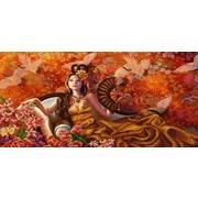 """Канва/ткань с нанесенным рисунком Конёк """"Восточный мотив"""""""
