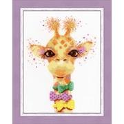 """Набор для вышивания крестом Золотое Руно """"Влюблённый жираф"""""""