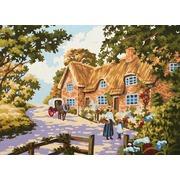 """Канва/ткань с нанесенным рисунком Grafitec """"Весенний дом"""""""