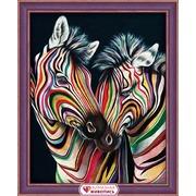 """Набор для выкладывания мозаики Алмазная живопись """"Цветные зебры"""""""