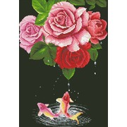"""Набор для выкладывания мозаики Паутинка """"Карпы и розы"""""""