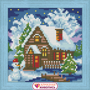 """Набор для выкладывания мозаики Алмазная живопись """"Зимний домик"""""""