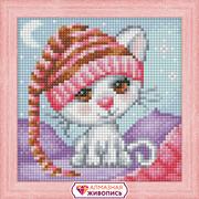 """Набор для выкладывания мозаики Алмазная живопись """"Сонный котенок"""""""