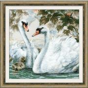 """Набор для вышивания крестом Риолис """"Белые лебеди"""""""
