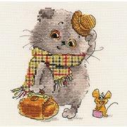 """Набор для вышивания крестом Алиса """"Басик и Милена. В гости к Вам"""""""